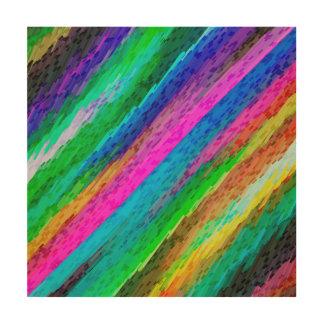 Wood Canvas Colorful digital art splashing G478