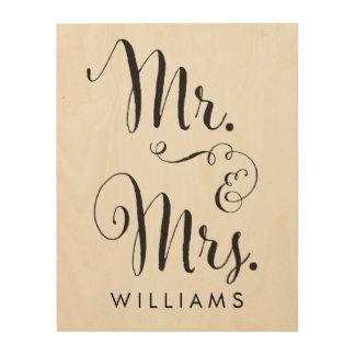 Wood Canvas Mr. & Mrs. Art Print