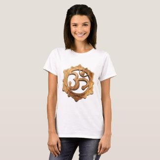 Wood Carved Lotus Om Shirt