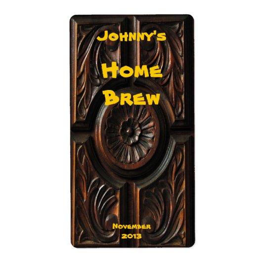 Wood Carving Beer Label