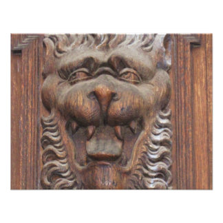 WOOD CARVING - Gothic and Medieval architecture Personalized Invites