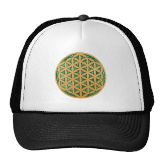 Wood Carving of Flower of Life Trucker Hat