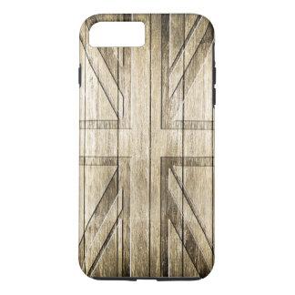 Wood Carving (Union Jack Flag) iPhone 8 Plus/7 Plus Case