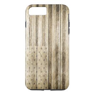 Wood Carving (USA Flag) iPhone 8 Plus/7 Plus Case