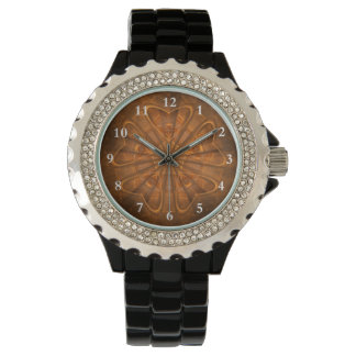 Wood Carving Wrist Watch