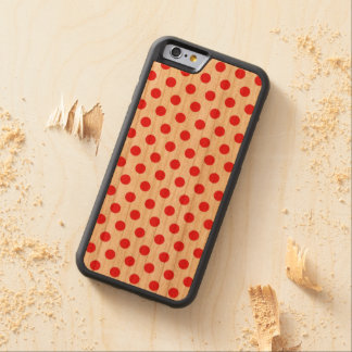 Wood Case iPhone 6 Polkadots Cherry iPhone 6 Bumper