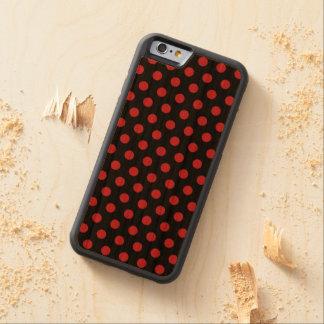 Wood Case iPhone 6 Polkadots Cherry iPhone 6 Bumper Case
