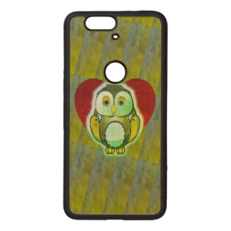 Wood Case - Owl for Nexus