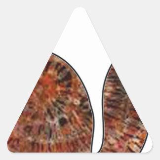 wood cat batik art triangle sticker