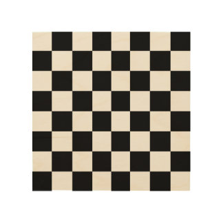"Wood Chess or Checker Board 8"" by 8"" Wood Print"