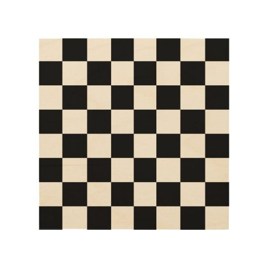 "Wood Chess or Chequered Board 8"" by 8"" Wood Print"
