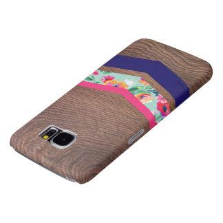 wood chevron phone case