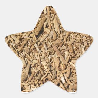 Wood Chips Star Sticker