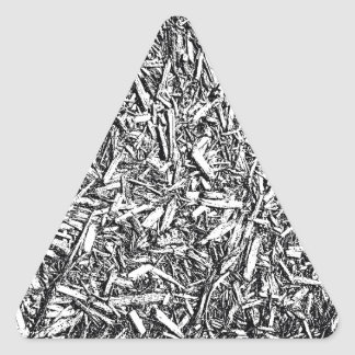 Wood Chips Triangle Sticker