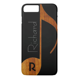 wood-color music note with name iPhone 8 plus/7 plus case