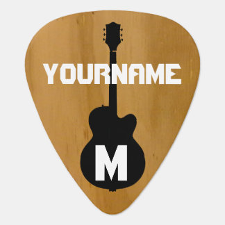 wood-color, personalized pick