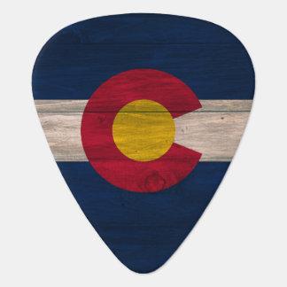 Wood Colorado flag guitar pick