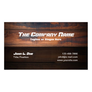Wood Construction Pack Of Standard Business Cards