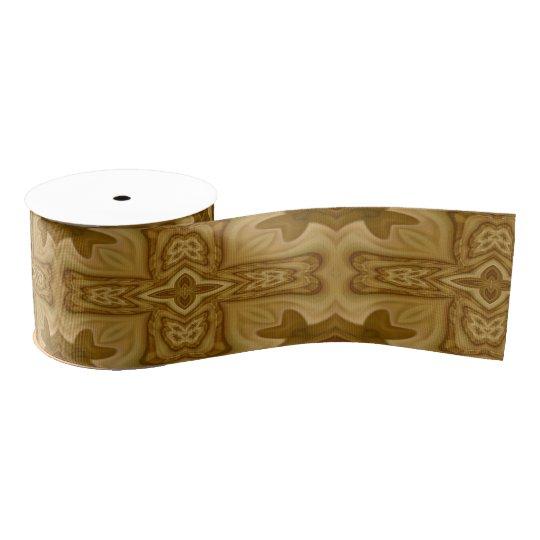 Wood Cross Pattern Grosgrain Ribbon