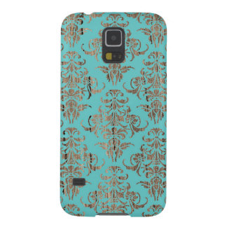 Wood damask pattern vintage rustic chic chandelier galaxy s5 case