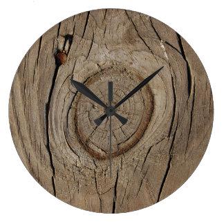 Wood design clock
