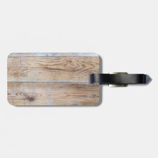 Wood Design luggage tag