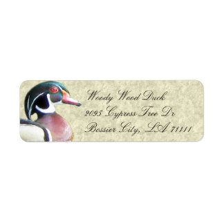 Wood Duck Address Labels