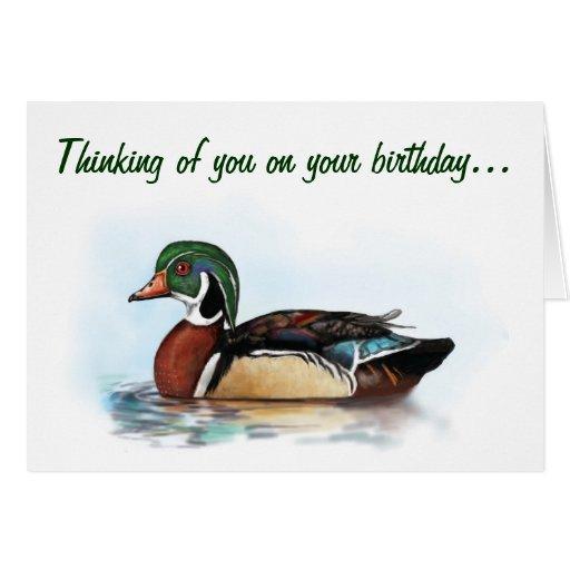 Wood Duck Birthday Card