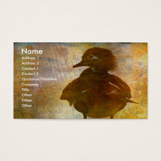 Wood Duck Hen Business Card