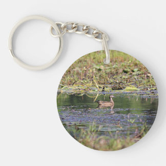 Wood Duck Hen Keychain
