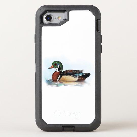 Wood Duck in Portrait OtterBox Defender iPhone 7 Case