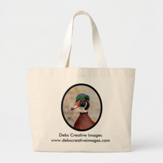 Wood Duck Large Tote Bag