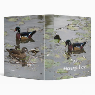 Wood Duck Lily Pond Binder