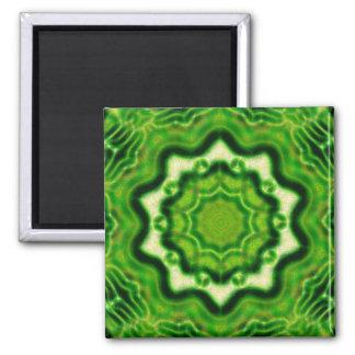 WOOD Element kaleido pattern Square Magnet
