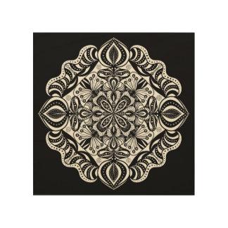 Wood embankment kind - wood canvas Mandala