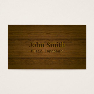 Wood Embossing Music Composer Business Card