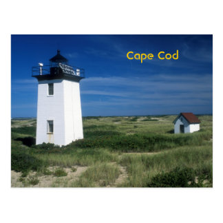 Wood End Lighthouse Cape Cod Postcard