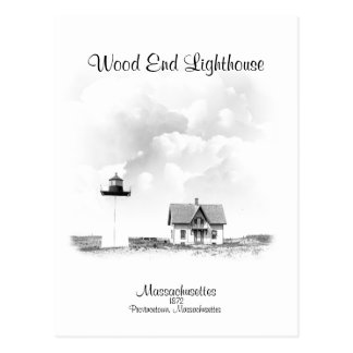 Wood End Lighthouse - Massachusetts Postcard