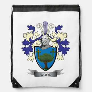 Wood Family Crest Coat of Arms Drawstring Bag