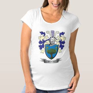 Wood Family Crest Coat of Arms Maternity T-Shirt
