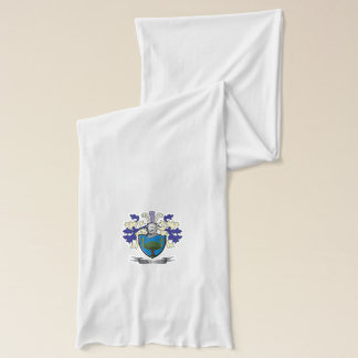 Wood Family Crest Coat of Arms Scarf