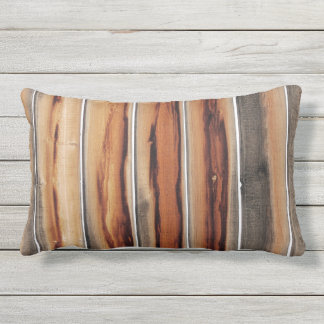 Wood Fence Texture Cool Unique Photograph Lumbar Pillow