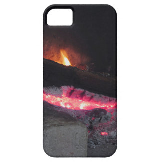 Wood fire flame heat spires burning in fireplace iPhone 5 covers
