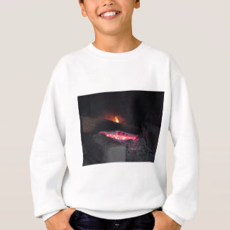 Wood fire flame heat spires burning in fireplace sweatshirt
