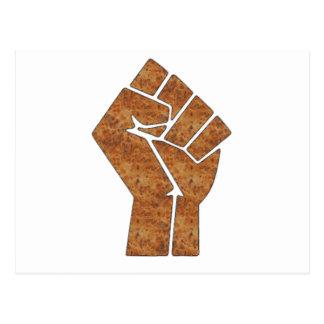 Wood fist postcard