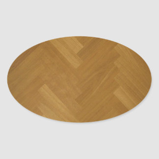 Wood Floor Panel Texture Background Oval Sticker