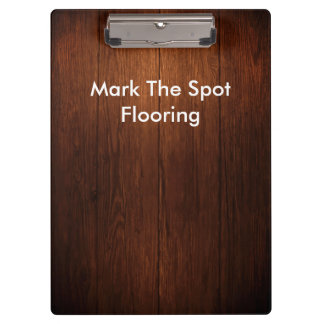 Wood Flooring Theme Clipboard