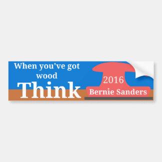 Wood for Sanders Bumper Sticker