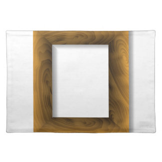 wood frame placemat