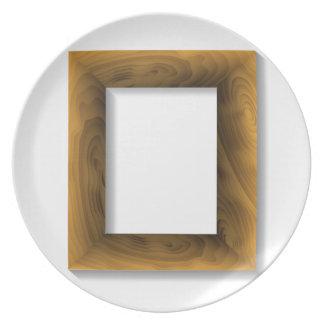 wood frame plate
